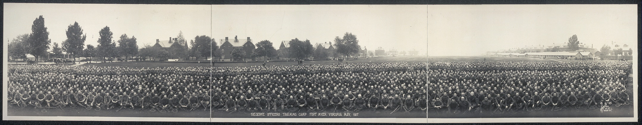 Reserve Officers Training Camp, Fort Myer, Virginia, May, 1917