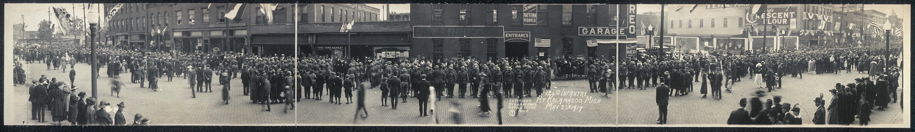 126th Infantry at Kalamazoo, Mich., May 22nd, 1919