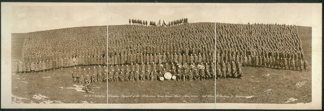 74th U.S. Infantry, champion regiment of the 12th Division, Camp Devens, Mass., Dec. 20, 1918, Col. Oliver H. Dockery, Jr. commanding