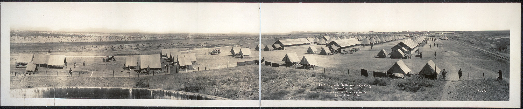 First Seperate [sic] Battalion Infantry, Washington, D.C.; Camped on the Mexican border, Naco, Ariz., 1916