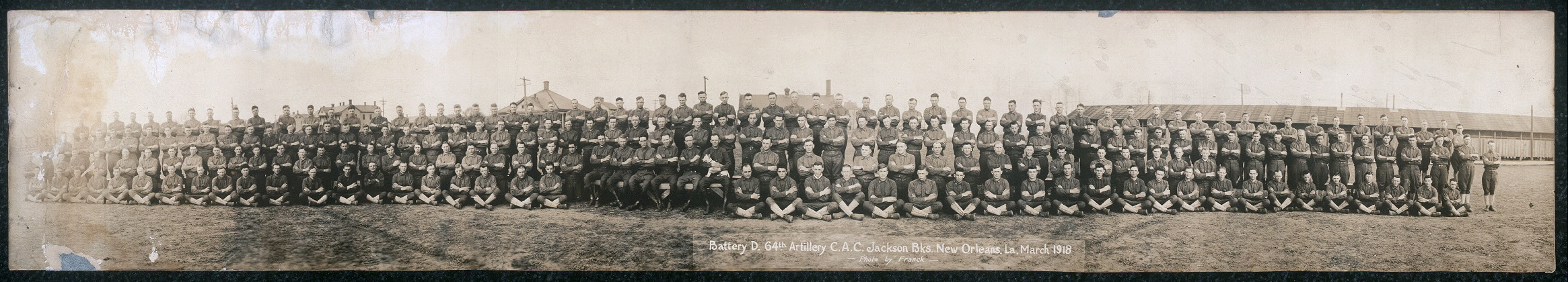 Battery D, 64th Artillery C.A.C. Jackson Bks., New Orleans, La., March 1918