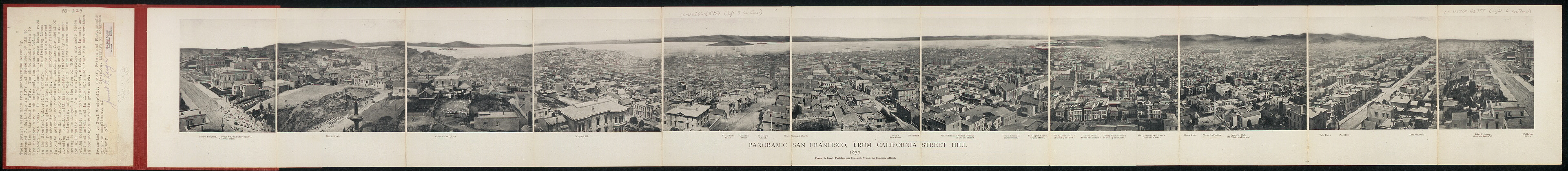 Panoramic San Francisco, from California Street hill, 1877