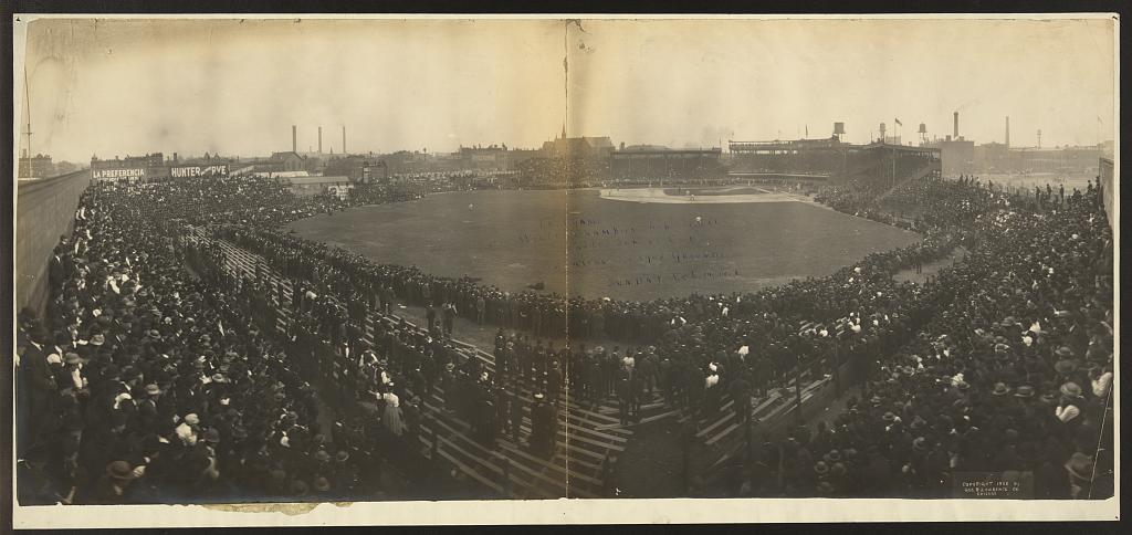 Last game, World Championship Series, White Sox vs. Cubs, American League Grounds, Sunday, Oct. 14, 1906