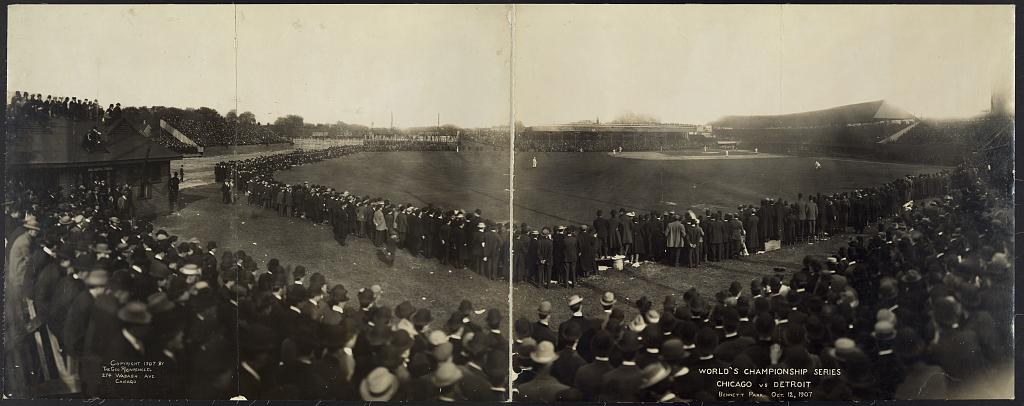 World's Championship Series, Chicago vs. Detroit, Bennett Park, Oct. 12, 1907
