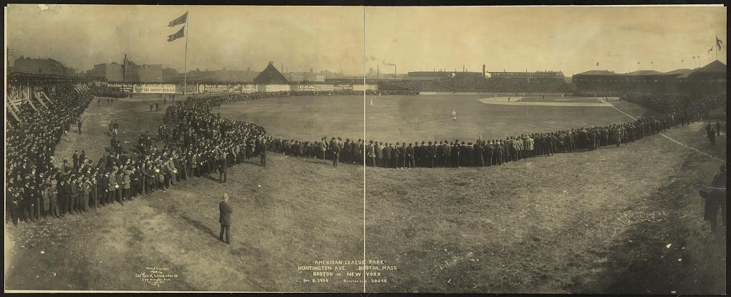American League Park, Huntington Ave., Boston, Mass., Boston vs. New York, Oct. 8, 1904, attendance 28,040