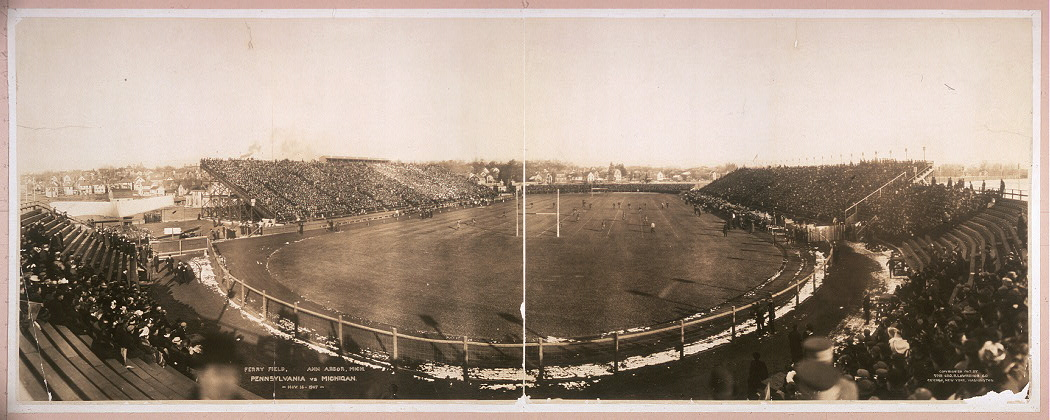 Ferry Field, Ann Arbor, Mich., Pennsylvania vs. Michigan, Nov. 16, 1907