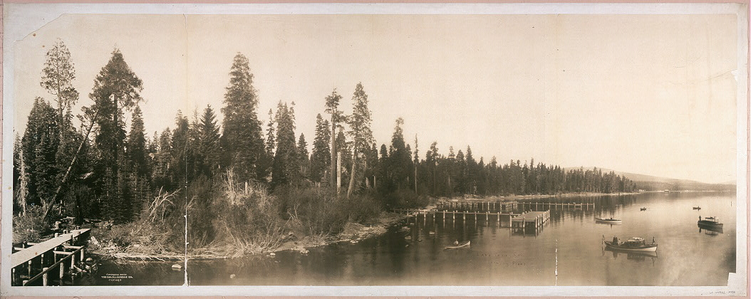 Lake Tahoe, Cal., showing piers