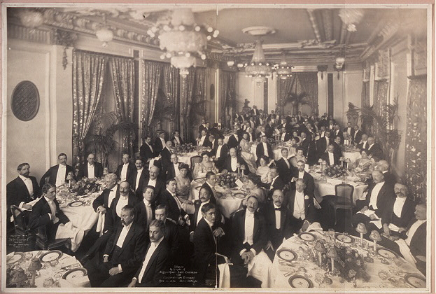 Dinner in honor of Signor Jiulio Gatti Casazza and Signor Arturo Toscanini, Nov. 22, 1908, Hotel St. Regis