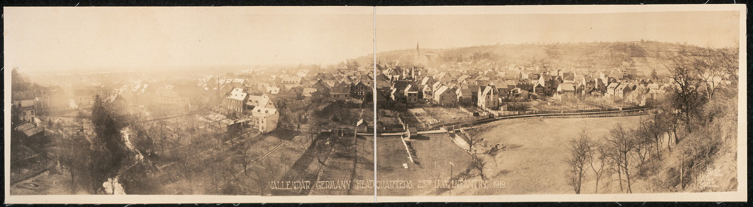 Vallendar Germany headquarters, 23rd U.S. Infantry, 1919
