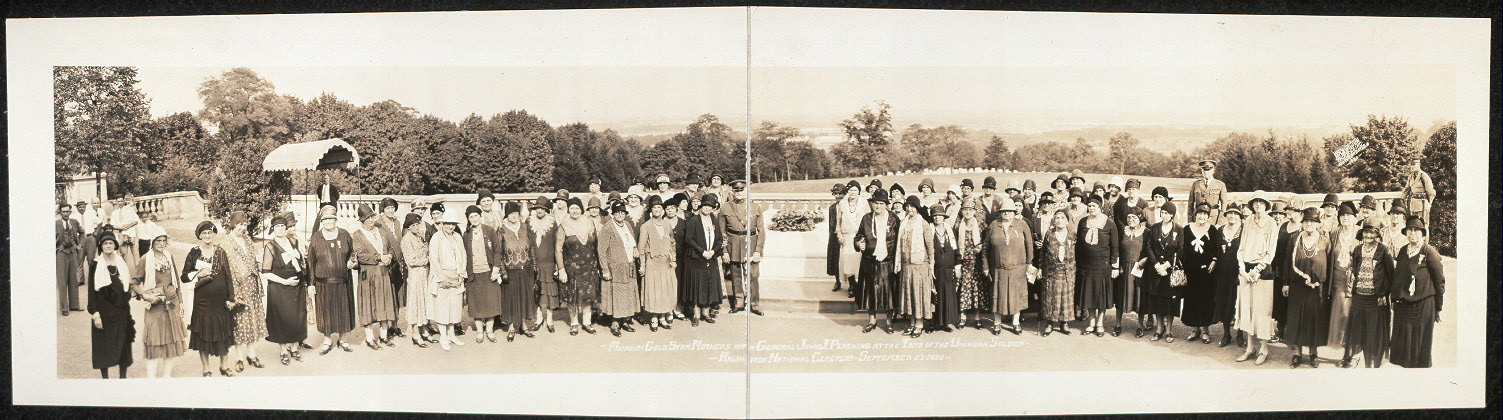 Missouri Gold Star Mothers with General John J. Pershing at the Tomb of the Unknown Soldier, Arlington National Cemetery, September 21, 1930