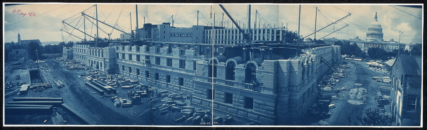 Construction of the Library of Congress, Washington, D.C., Aug. 27, 1891
