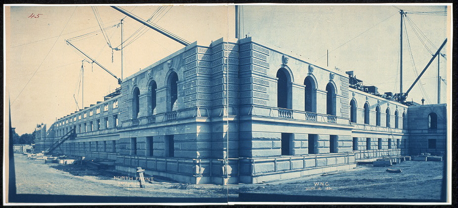 Construction of the Library of Congress, north front, Washington, D.C., Sept. 16, 1891