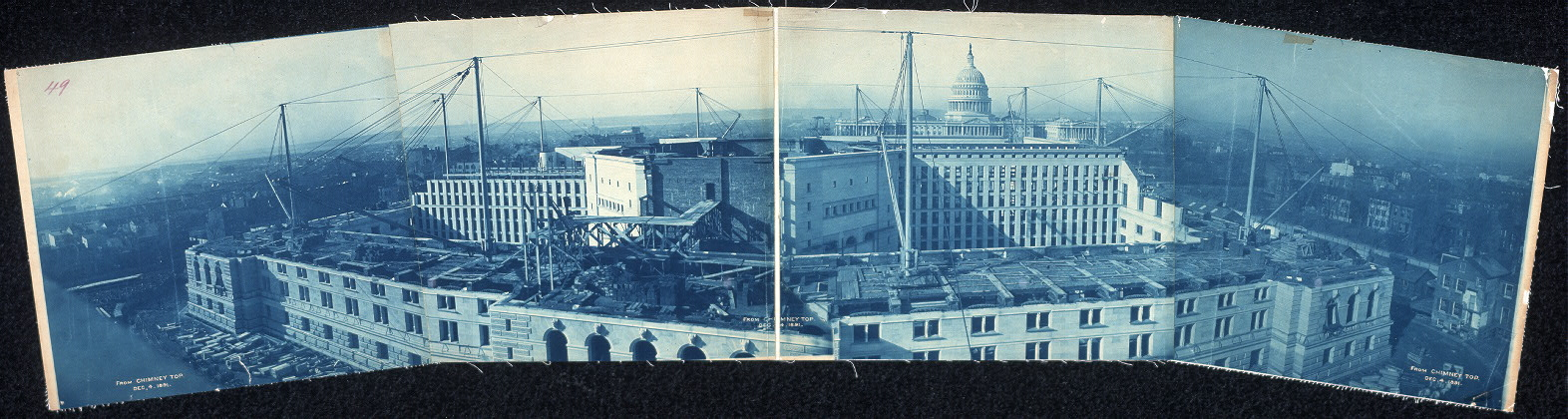 Construction of the Library of Congress, from chimney top, Washington, D.C., Dec. 4, 1891