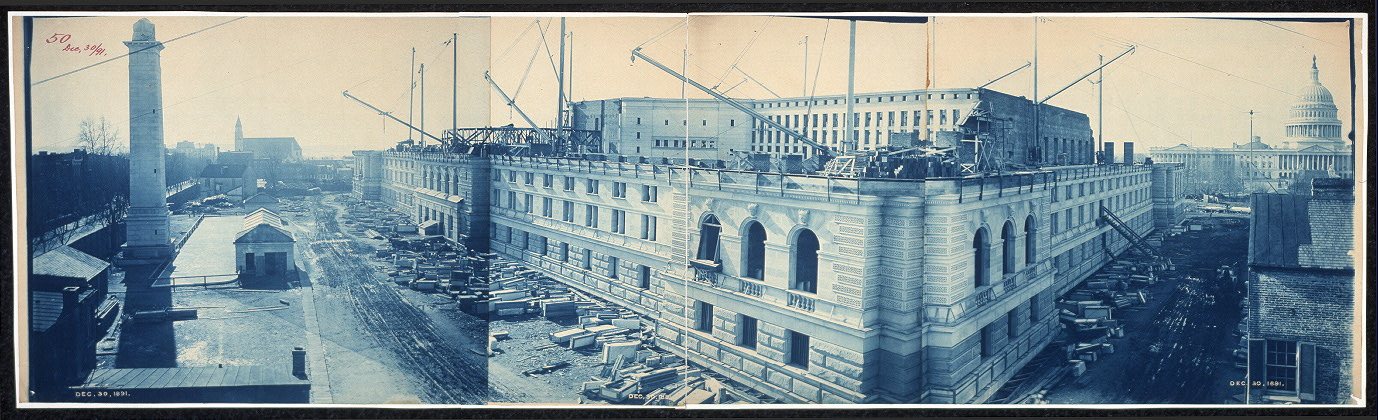 Construction of the Library of Congress, Washington, D.C., Dec. 30, 1891