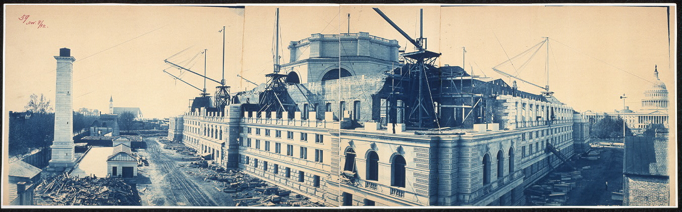 Construction of the Library of Congress, Washington, D.C., Nov. 8, 1892