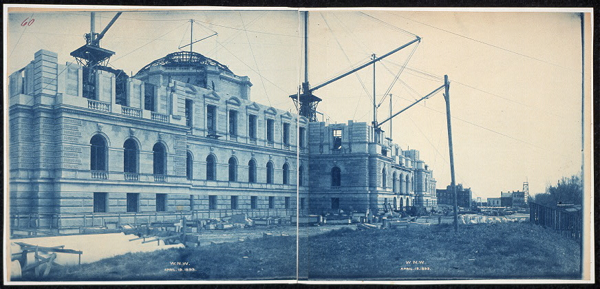 Construction of the Library of Congress, W.N.W., Washington, D.C., April 19, 1893