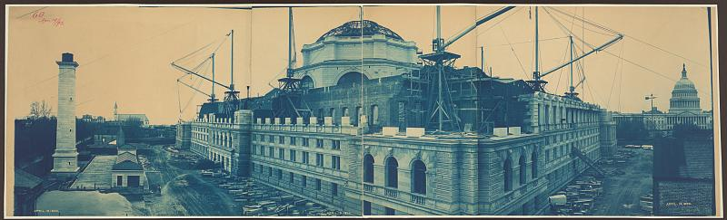 Construction of the Library of Congress, Washington, D.C., April 19, 1893