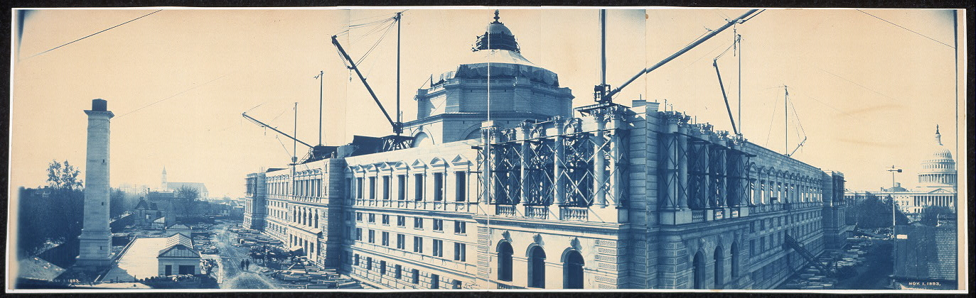Construction of the Library of Congress, Washington, D.C., Nov. 1, 1893