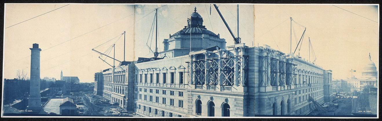 Construction of the Library of Congress, Washington, D.C., Jan. 19, 1894