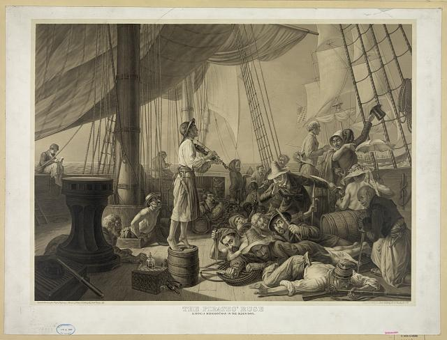 The pirates' ruse luring a merchantman in the olden days