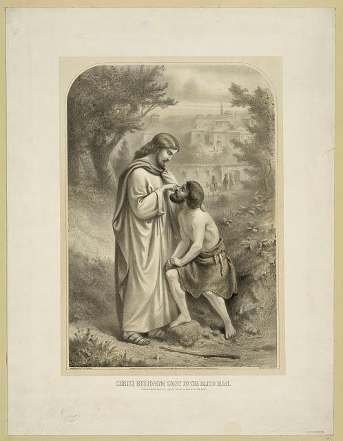 Christ restoring sight to the blind man