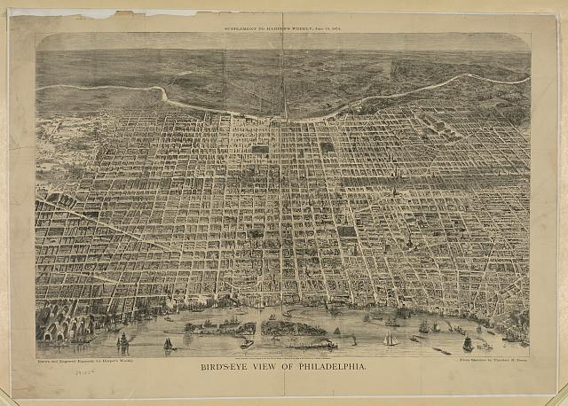 Bird's-eye view of Philadelphia
