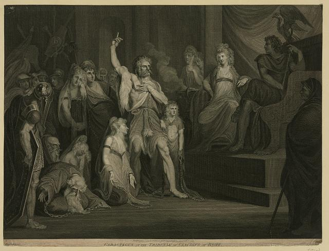 Caractacus at the Tribunal of Claudius at Rome