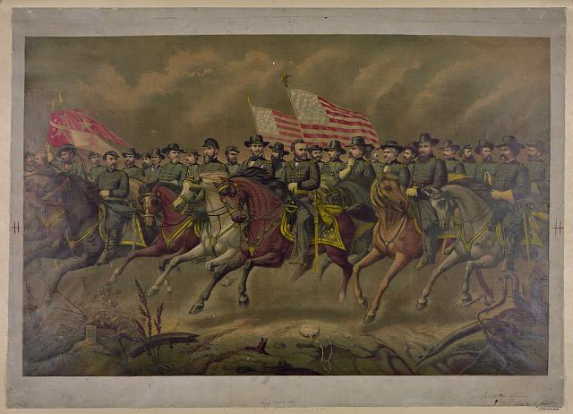 [Ulysses S. Grant and his Generals on horseback]