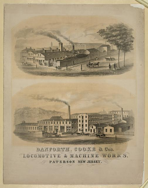 Danforth, Cooke & C.'s Locomotive & machine works. Paterson New Jersey