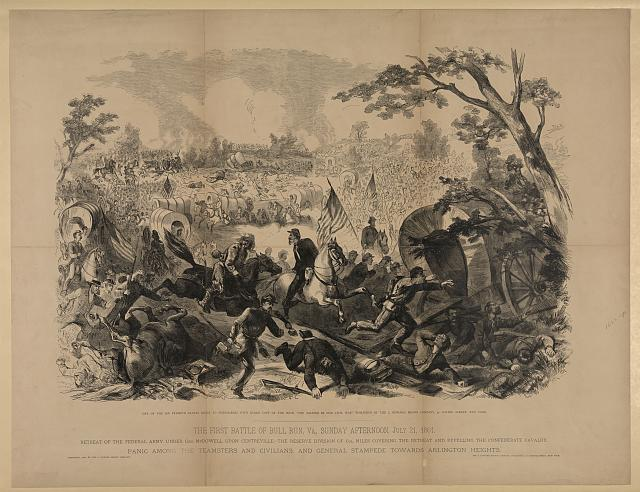 The first Battle of Bull Run, Va., Sunday afternoon, July 21, 1861