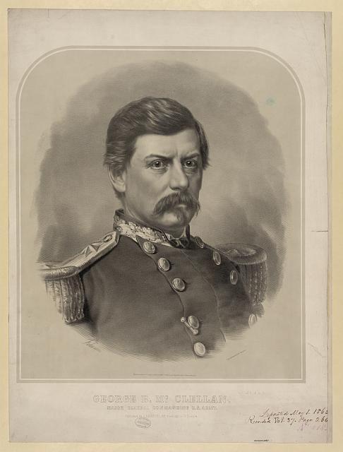 George B. McClellan. Major General commanding U.S. Army