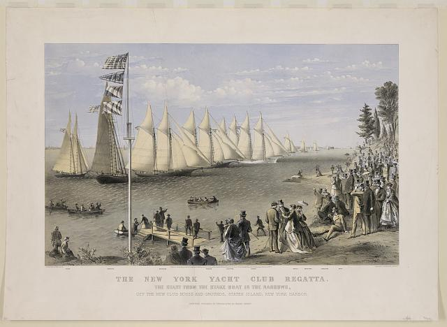 The New York yacht club regatta