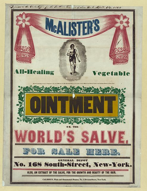 McAlister's all-healing vegetable ointment ...