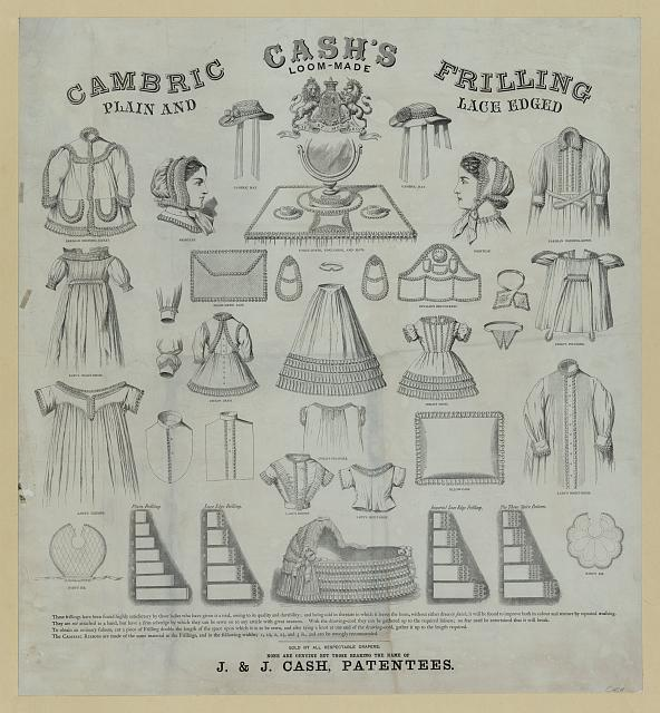 Cash's. Loom-made. Cambric filling