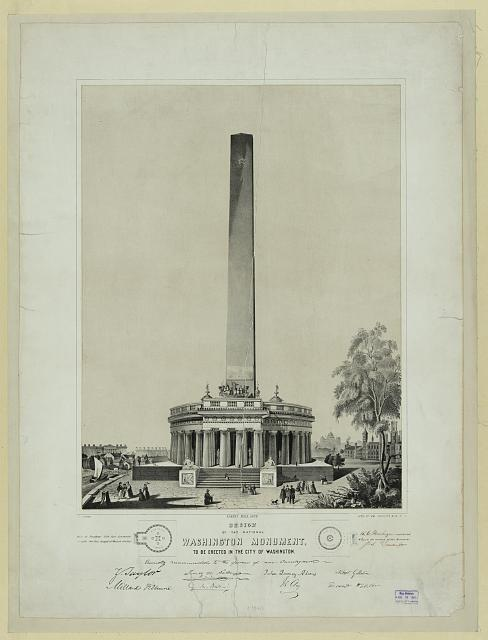 Design of the National Washington Mounment, to be erected in the City of Washington