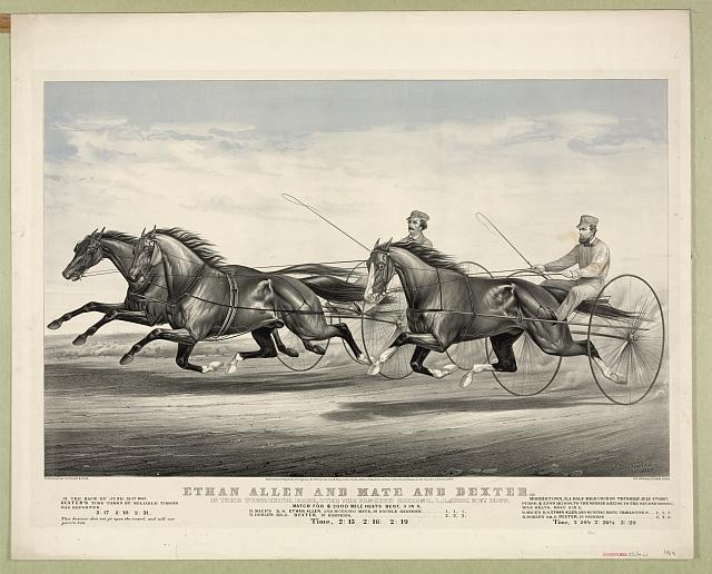 Ethan Allen and Mate and Dexter: In their wonderful race, over the fashion course, L.I. June 21st 1867