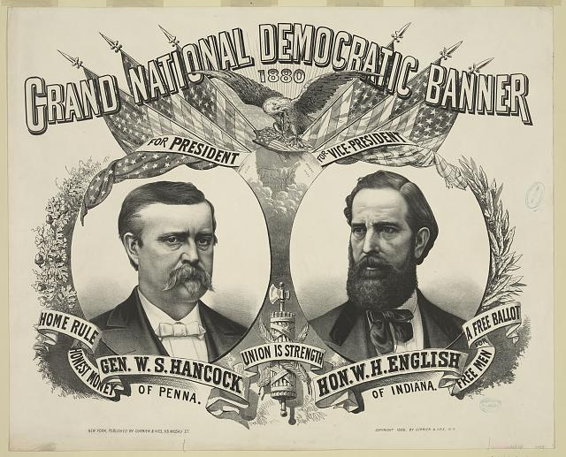 Grand national Democratic banner: 1880