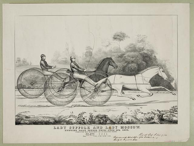 Lady Suffolk and Lady Moscow: hunting park course, Phila. June 13th 1850