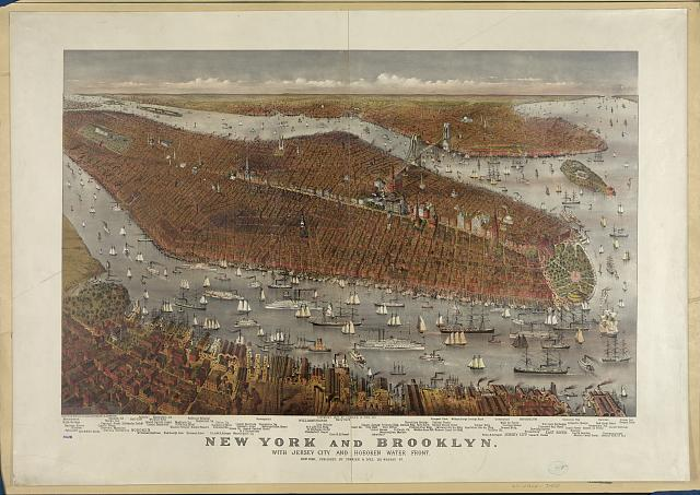 New York and Brooklyn: with Jersey City and Hoboken water front