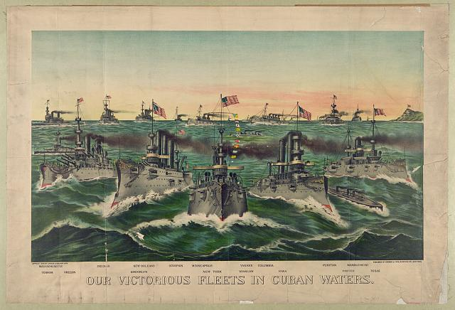 Our victorious fleets in Cuban waters