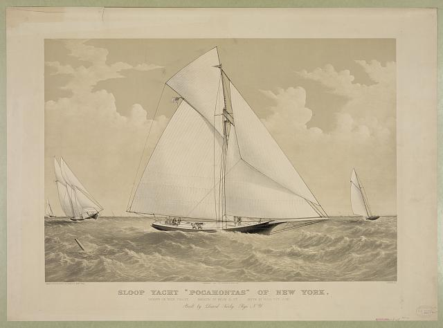 "Sloop yacht ""Pocahontas"" of New York"