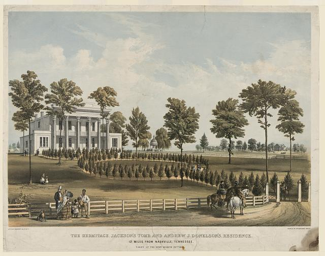 The Hermitage, Jackson's tomb, and Andrew J. Donelson's residence 12 miles from Nashville, Tennessee. Taken at the spot, March 29th, 1856