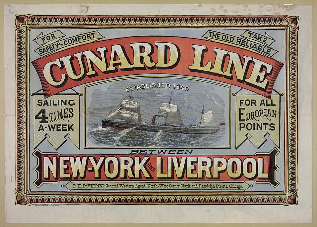 For safety and comfort take the old reliable Cunard line