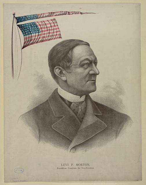 Levi P. Morton, Republican candidate for vice-president