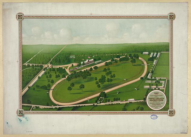 View of the racecourse of the Coney Island Jockey Club situate at Sheepshead Bay Long Island