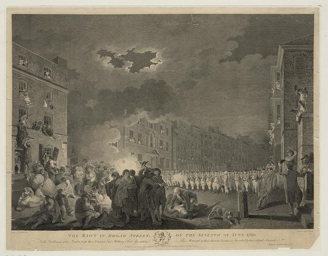 The riot in Broad street, on the seventh of June 1780