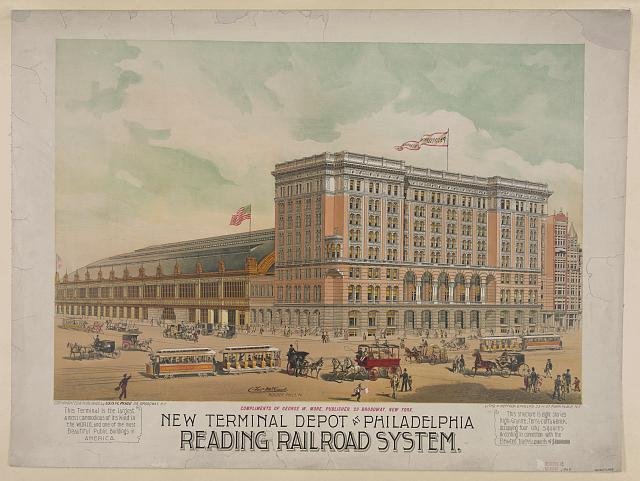 New terminal depot at Philadelphia. Reading railroad system