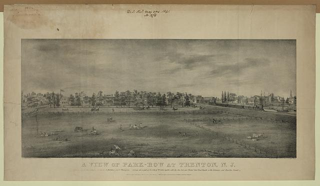 A view of Park-row at Trenton, N.J.