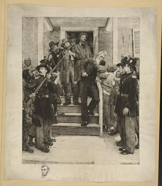 The last moments of John Brown (leaving the jail on the morning of his execution)