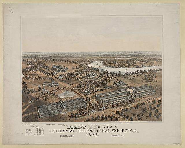 Bird's eye view. Centennial international exhibition. 1876